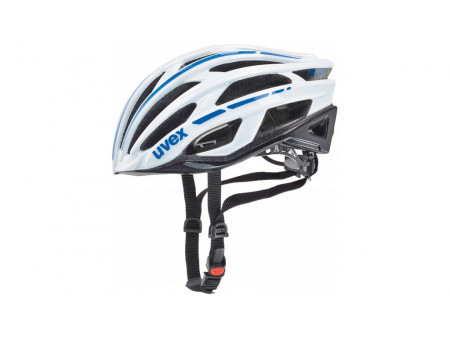 Velo ķivere Uvex Race 5 white-blue-black