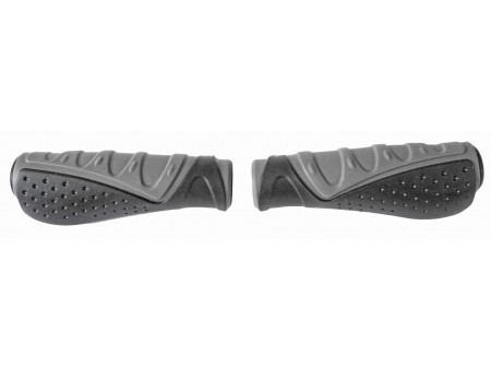 Stūres rokturi Azimut Wave Ergo Dual 135mm black/grey (1004)