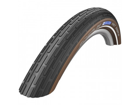 "Riepa 28"" Schwalbe Fat Frank HS 375, Active Wired 50-622 Black/Coffee-Reflax"