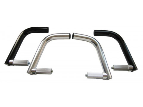 Stūres ragi silver alloy for end of handlebar
