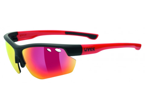 Brilles Uvex Sportstyle 115 black mat red