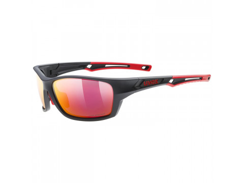 Brilles Uvex Sportstyle 232 P black mat red / mirror red