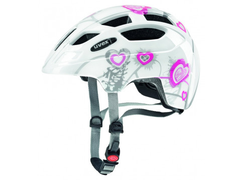 Velo ķivere Uvex Finale Junior heart white pink