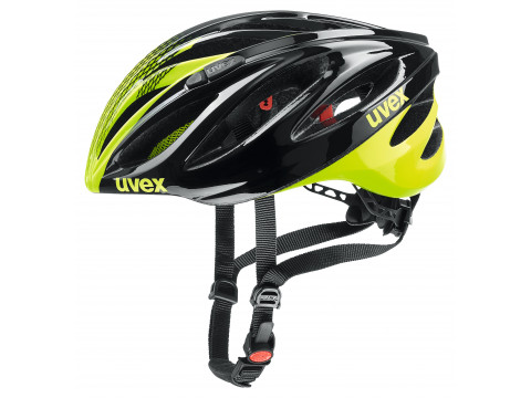 Velo ķivere Uvex Boss Race black-neon yellow-52-56CM