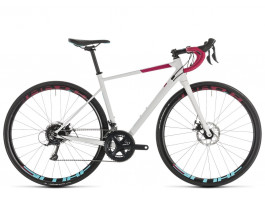 "Velosipēds Cube Axial WS Pro Disc white""n""berry 2019"