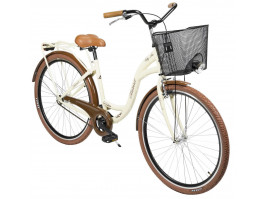 """Velosipēds AZIMUT City Lux 28"""" 2020 with basket cream-brown"""