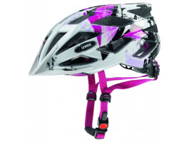Velo ķivere Uvex Air Wing white-pink