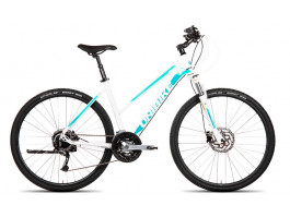 Velosipēds UNIBIKE Crossfire LDS 28 2019 white-turquoise
