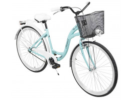 """Velosipēds AZIMUT City Lux 28"""" 2020 with basket turquoise-white"""
