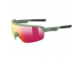 Brilles Uvex Sportstyle 227 olive mat / mirror red