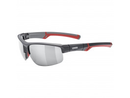 Brilles Uvex Sportstyle 226 grey red mat / mirror silver