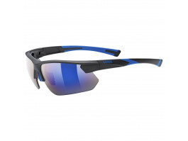 Brilles Uvex Sportstyle 221 black blue mat / mirror blue