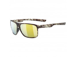 Brilles Uvex lgl 33 Polarized havanna mat / mirror yellow