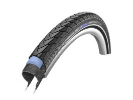 "Riepa 28"" Schwalbe Marathon Plus HS 348, Perf Wired 47-622 Black-Reflex"