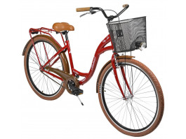 """Velosipēds AZIMUT City Lux 28"""" 2020 with basket bordo-brown"""
