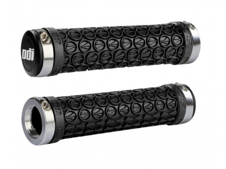 Stūres rokturi ODI SDG MTB Lock-On Bonus Pack Black w/Silver Clamps