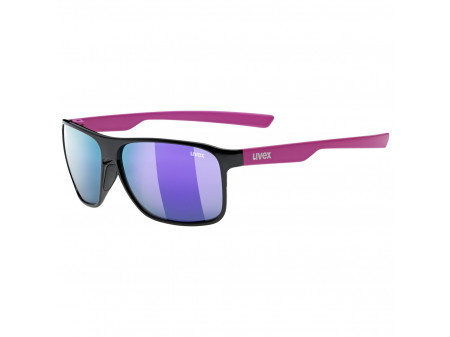 Brilles Uvex lgl 33 Polarized black pink mat / mirror purple