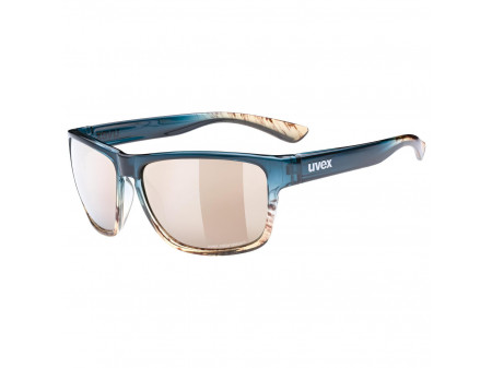 Brilles Uvex lgl 36 CV peacock sand / mirror champagne