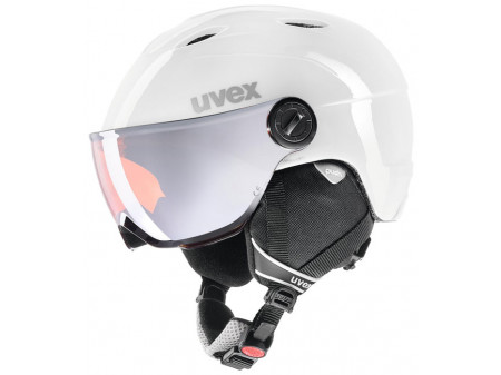 Velo ķivere Uvex Junior visor pro white-grey