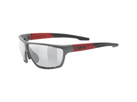 Brilles Uvex Sportstyle 706 grey mat red / mirror silver