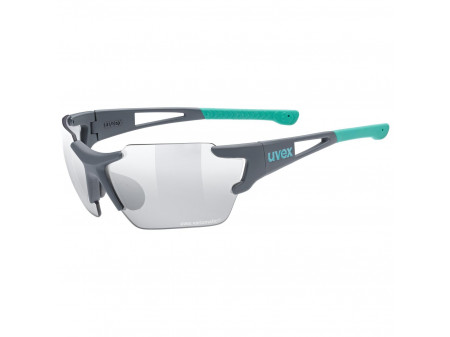 Brilles Uvex Sportstyle 803 race small Variomatic green mat / litmirror silver