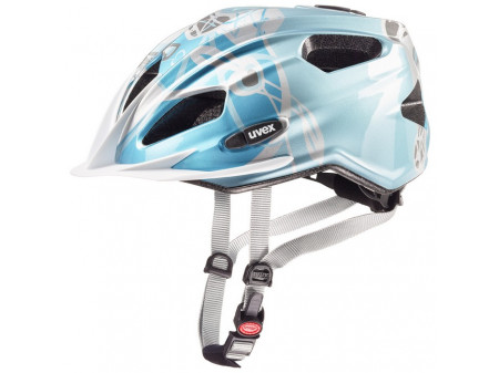 Velo ķivere Uvex Quatro Junior lightblue-silver