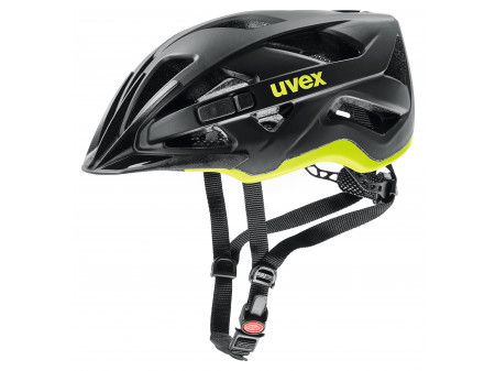 Velo ķivere Uvex Active cc black-yellow mat-52-57CM