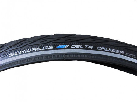 "Riepa 28"" Schwalbe Delta Cruiser HS 431, Active Wired 37-622 Black-Reflex"