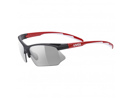 Brilles Uvex Sportstyle 802 variomatic black red white / smoke