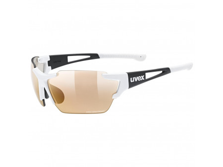 Brilles Uvex Sportstyle 803 race CV Variomatic white black / litemirror red