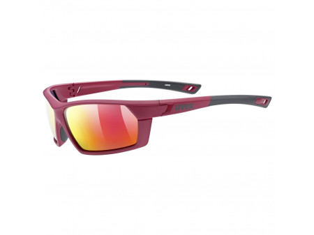 Brilles Uvex Sportstyle 225 Polarized red grey mat / mirror red