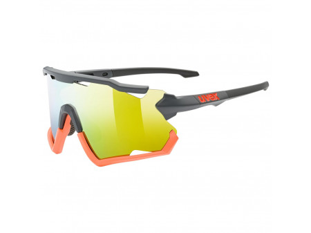 Brilles Uvex Sportstyle 228 grey orange mat / mirror orange