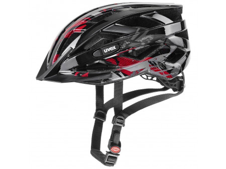 Velo ķivere Uvex Air Wing black red