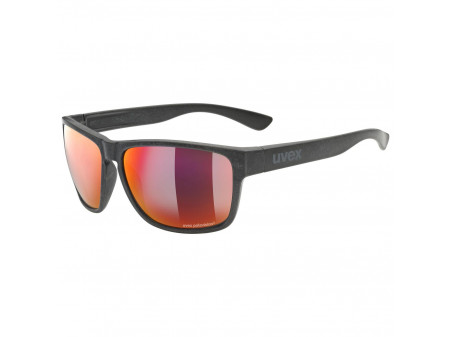 Brilles Uvex lgl ocean P black mat / mirror red