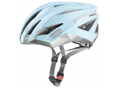 Velo ķivere Uvex Ultrasonic Race light blue mat-silver
