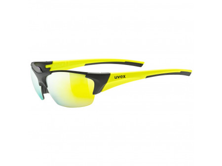 Brilles Uvex Blaze III black mat yellow / mirror yellow