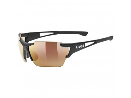 Brilles Uvex Sportstyle 803 race colorvision variomatic black mat / litemirror red