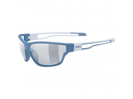Brilles Uvex Sportstyle 806 Variomatic blue wh mat / smoke