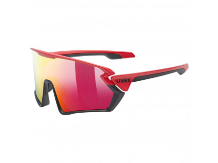 Brilles Uvex Sportstyle 231 red black mat / mirror red