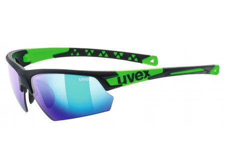 Brilles Uvex Sportstyle 224 black mat green
