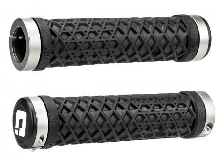 Stūres rokturi ODI Vans Lock-On Grips Black w/ Graphite Clamps