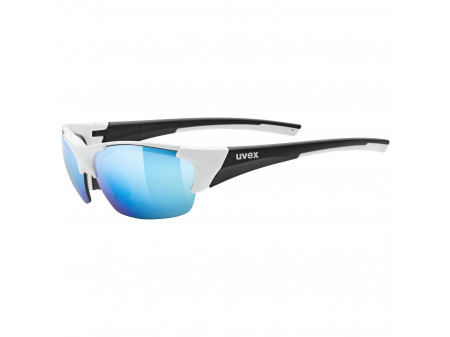 Brilles Uvex Blaze III white black mat / mirror blue