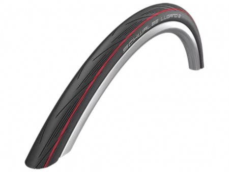 "Riepa 28"" Schwalbe Lugano II HS 471, Active Fold. 25-622 Red Stripes"