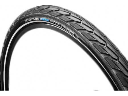 "Riepa 28"" Schwalbe Range Cruiser HS 457, Active Wired 40-622 Black-Reflex"