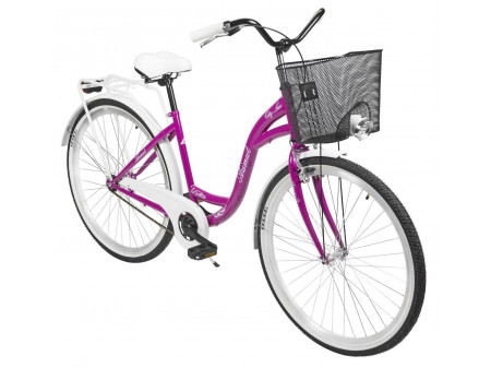 "Velosipēds AZIMUT City Lux 28"" 2020 with basket violet-white"