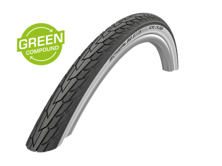 "Riepa 28"" Schwalbe Road Cruiser HS 484, Active Wired 42-622 Whitewall-Reflex"