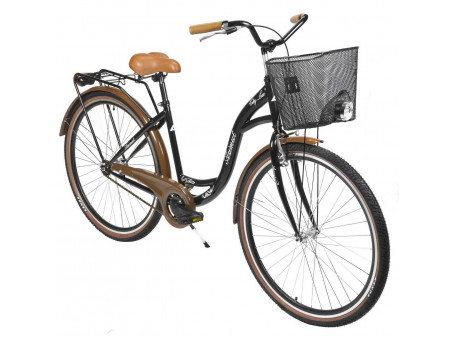 "Velosipēds AZIMUT City Lux 28"" 2020 with basket black-brown"