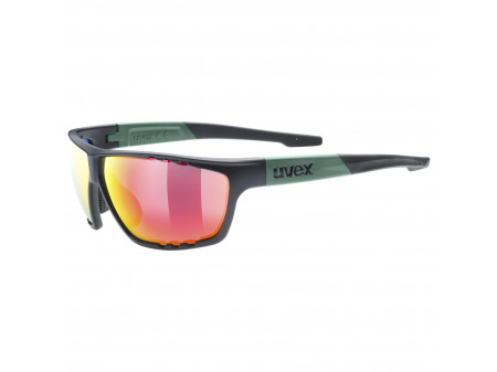 Brilles Uvex Sportstyle 706 black moss mat / mirror red