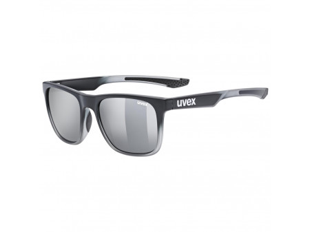 Brilles Uvex lgl 42 black transparent / mirror silver