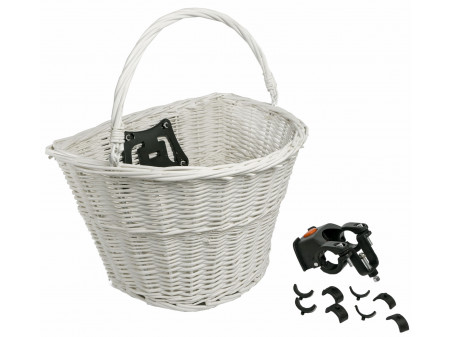 Grozs Azimut Wicker WHITE with plastic clip 38X29X21cm